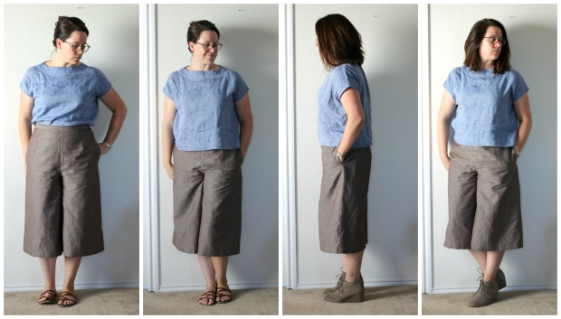 aug 11 style arc ethel designer top and B6178 Culottes collage